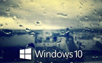 Windows 10 on the rainy window [5] wallpaper 1920x1080 jpg