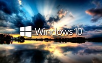 Windows 10 on the reflected clouds wallpaper 1920x1080 jpg