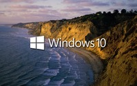 Windows 10 on the shore text logo wallpaper 1920x1200 jpg
