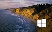 Windows 10 on the shore simple white logo wallpaper 1920x1200 jpg