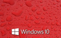 Windows 10 on water drops [4] wallpaper 1920x1080 jpg