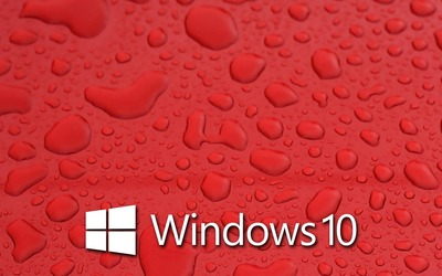 Windows 10 on water drops [4] wallpaper