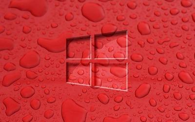 Windows 10 on water drops [2] Wallpaper