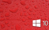 Windows 10 on water drops [3] wallpaper 1920x1080 jpg