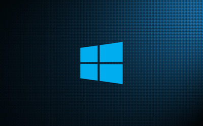 Windows 10 on weave simple logo wallpaper