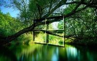 Windows 10 over a green lake transparent logo wallpaper 1920x1080 jpg