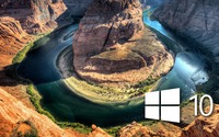 Windows 10 over the canyon simple logo wallpaper 1920x1080 jpg