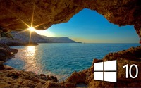 Windows 10 over the cave simple logo wallpaper 2560x1440 jpg