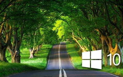 Windows 10 over the country road [3] Wallpaper