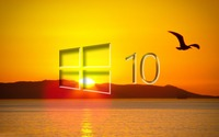 Windows 10 over the sunset glass logo [2] wallpaper 1920x1080 jpg