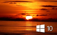 Windows 10 over the sunset simple white logo wallpaper 1920x1200 jpg