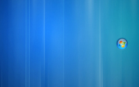Windows 7 in a blue bubble wallpaper 1920x1200 jpg