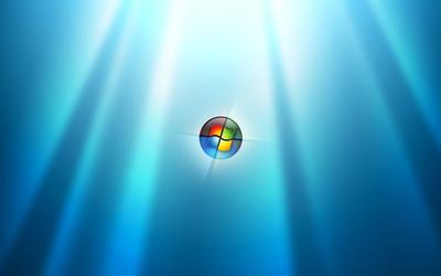 Windows 7 in a bubble wallpaper