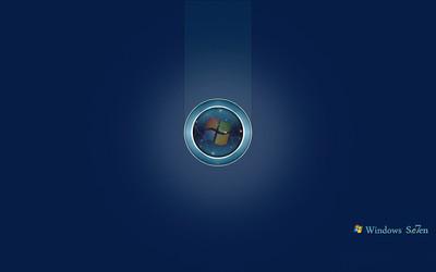 Windows 7 logo in a circle wallpaper