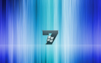 Windows 7 on blue stripes wallpaper 1920x1200 jpg