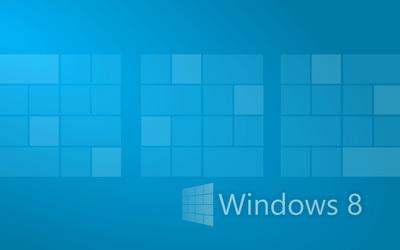 Windows 8 made from blue bricks wallpaper