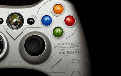 Xbox 360 silver controller wallpaper