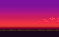 8-bit purple sunset wallpaper 1920x1080 jpg