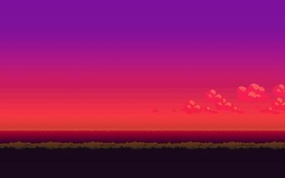 8-bit purple sunset wallpaper