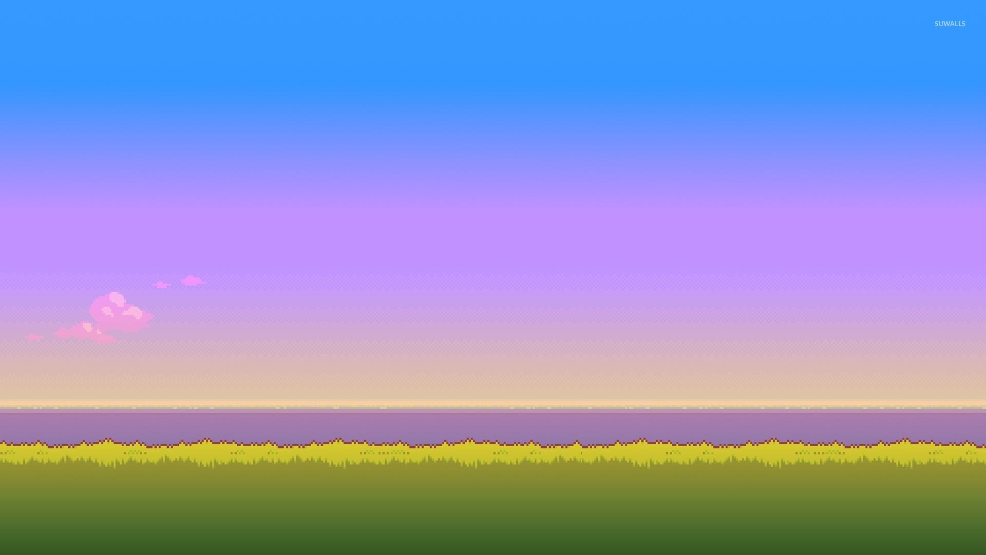 8-bit sunset [2] wallpaper