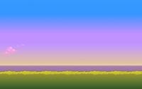 8-bit sunset [2] wallpaper 1920x1080 jpg