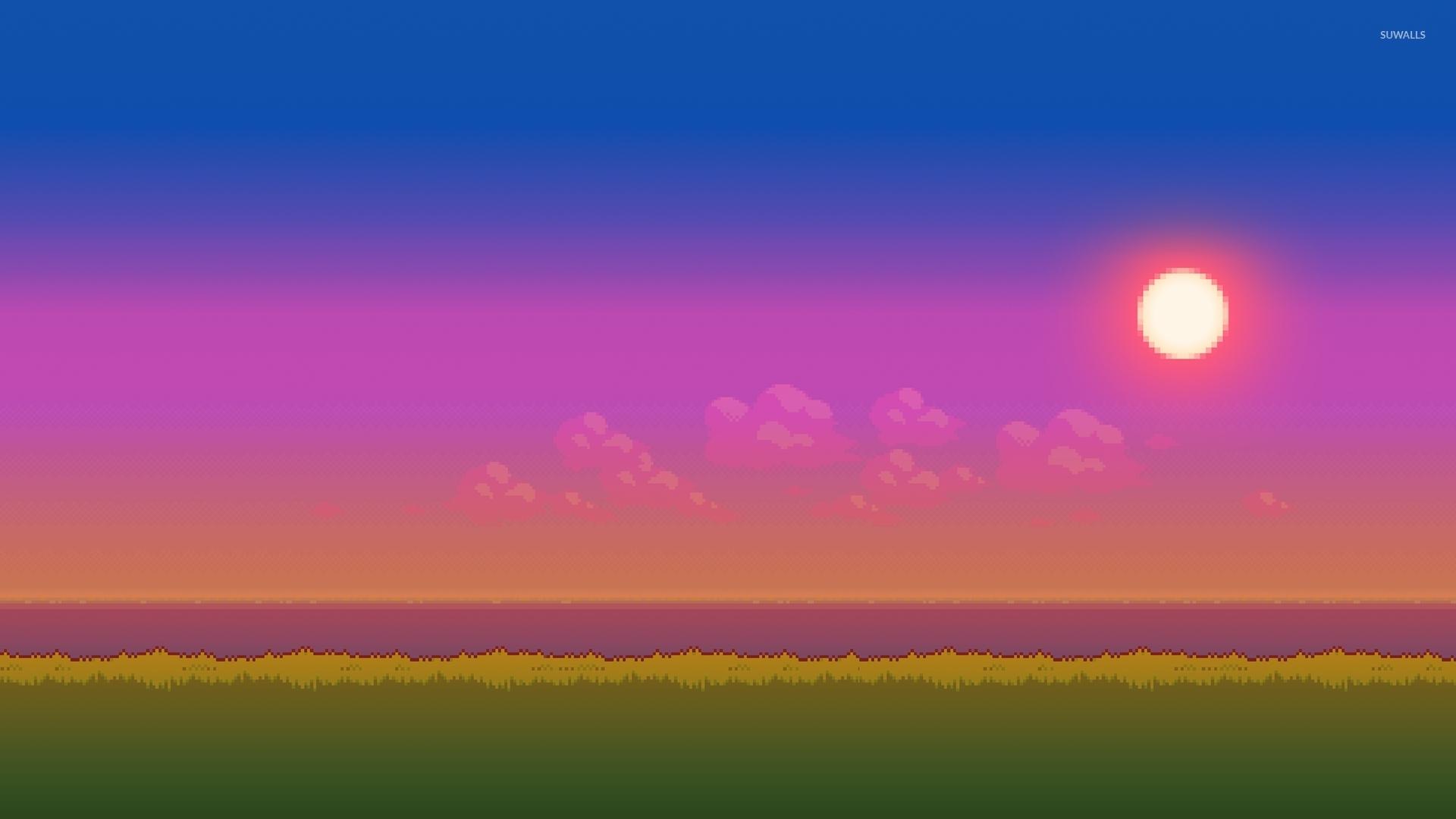 8-bit sunset wallpaper - digital art wallpapers - #41006