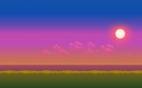 8-bit sunset wallpaper 1920x1080 jpg
