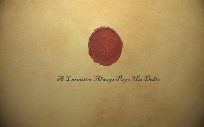 A Lannister always pays his debts wallpaper
