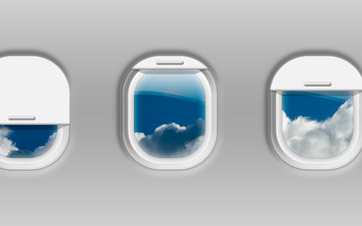 Airplane windows wallpaper