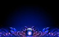 Amazing flower inside the blue orb wallpaper 1920x1200 jpg
