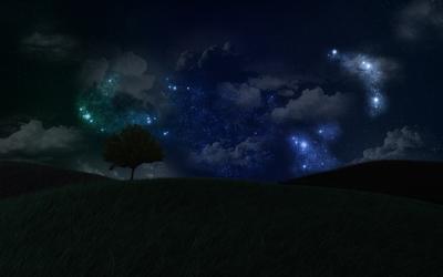 Amazing night sky wallpaper