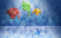 Balloon elephants wallpaper 1920x1200 jpg