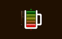 Battery life looking like a coffee cup wallpaper 1920x1200 jpg