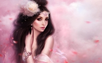 Beautiful brunette with a tiara wallpaper 1920x1200 jpg
