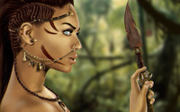 Beautiful warrior [3] wallpaper 2560x1600 jpg