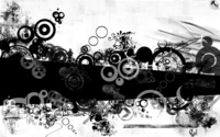 Black and white shapes wallpaper 1920x1200 jpg