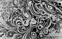 Black and white swirls wallpaper 1920x1200 jpg