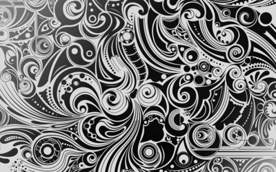 Black and white swirls wallpaper