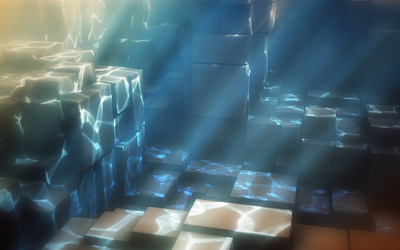 Blocks in the water Wallpaper