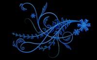 Blue bright flowers wallpaper 2560x1600 jpg