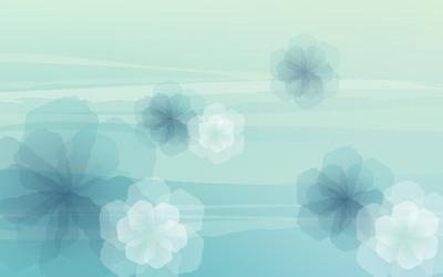 Blue translucent flowers wallpaper