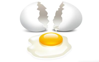 Broken egg wallpaper