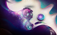 Cameras and fractal swirls wallpaper 2560x1440 jpg