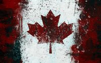 Canadian flag with paint drops wallpaper 1920x1080 jpg