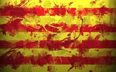 Catalonia flag with paint splash wallpaper