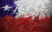 Chile flag with paint drops wallpaper 1920x1080 jpg