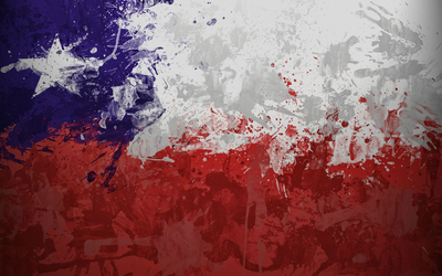 Chile flag with paint drops wallpaper