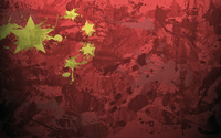 China flag with paint drops wallpaper 1920x1080 jpg