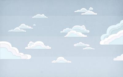 Clouded sky wallpaper