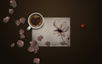 Coffee and rose petals wallpaper 1920x1080 jpg